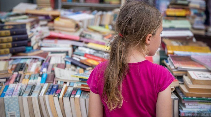 Little girl at the Book Fair