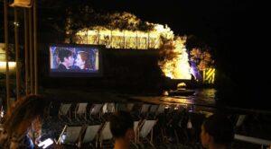 cinema in spiaggia al Nabilah