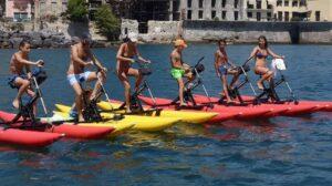 Water bike a Napoli