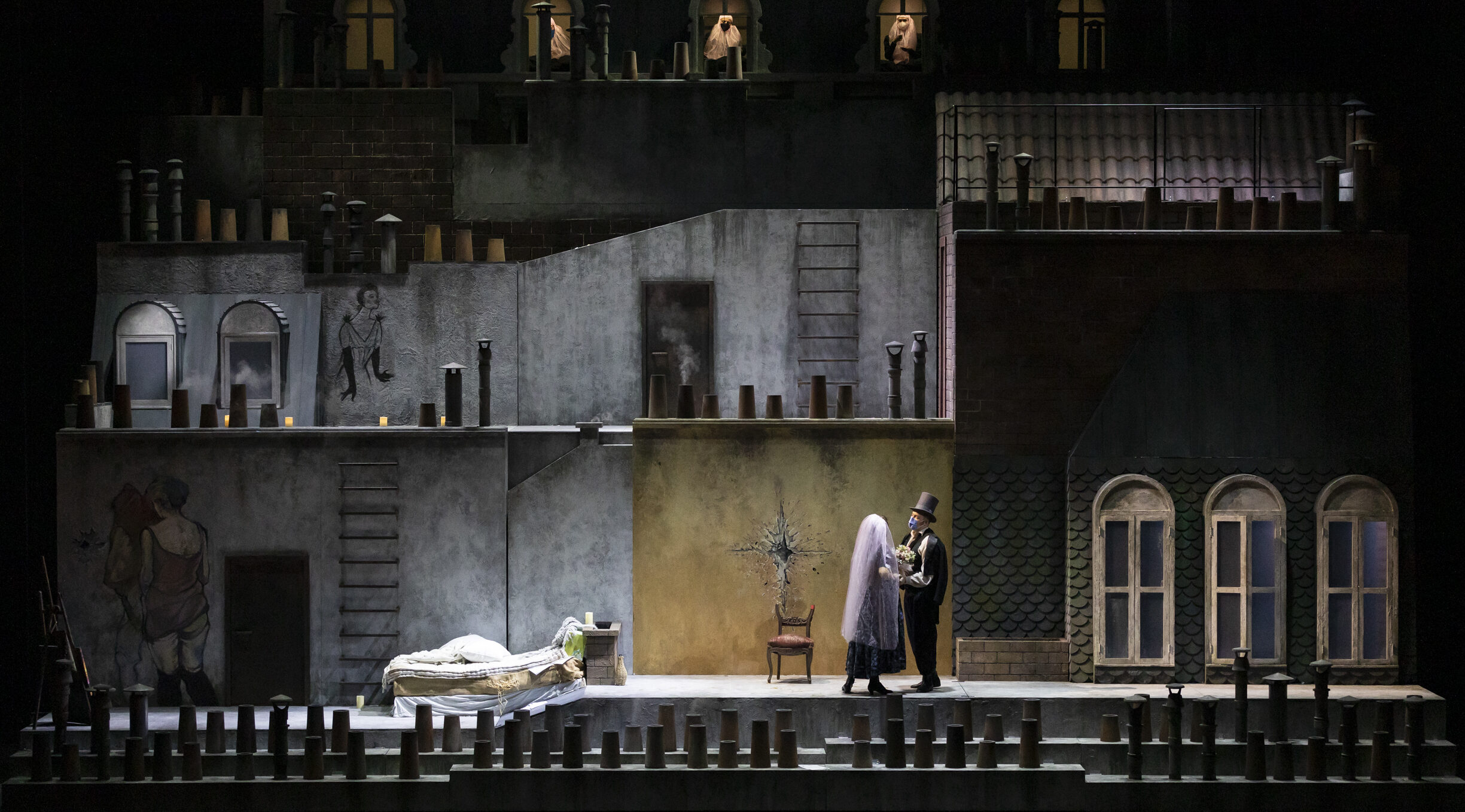 poster of La Boheme at the San Carlo Theater in Naples: the show season is inaugurated