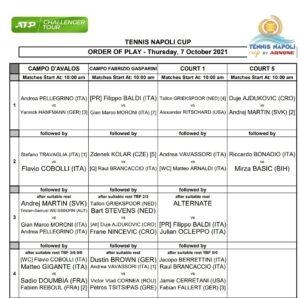 Tennis Napoli Cup 7 ottobre 2021